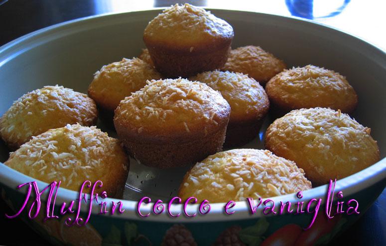 Muffin cocco e vaniglia