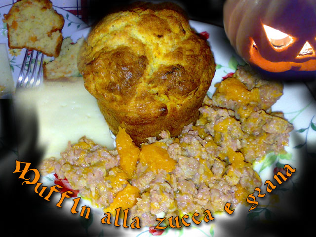 Muffin alla zucca e grana
