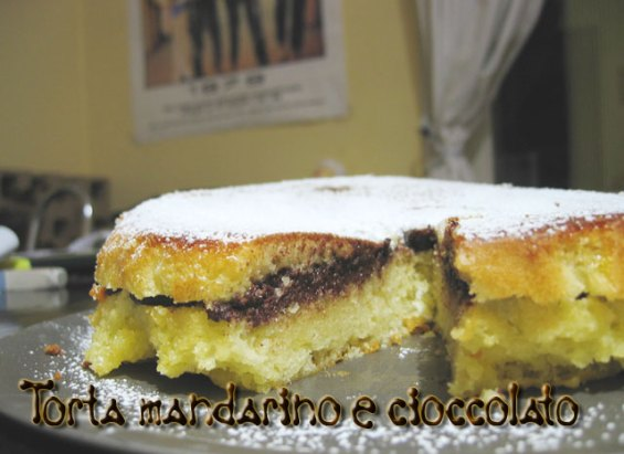 Torta al mandarino e crema al cioccolato